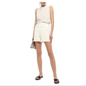 NWT Phillip Lim off-white pleated shorts size 0